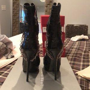 Gianmarco Lorenzi Shoes - Gianmarco Lorenzi chain mid calf boot